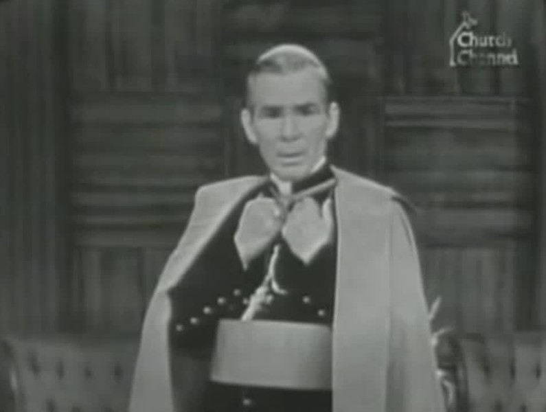 "Video Archive Clip - Archbishop Fulton J. Sheen (1895-1979) - ""Three Greatest Confessions of History"" - PART 2 OF 2 - ""Life Is Worth Living"" Television Series - Originally broadcast in 1957 (7 min 17 sec)"