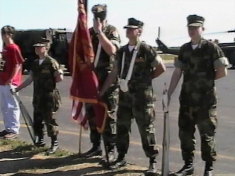 Video Archive Clip 1999 (Sep) - Yaden Boys - NORTH CENTRAL YOUNG MARINES HONOR THE MOVING WALL - Matt, Jake, and Steve honor the 58,000 fallen of the Vietnam War with the Veterans of Richland County at the ceremony of the Moving Wall.  Matt (age 18, in uniform) represented the United States Marine Corps, while Jake (age 14) and Steve (age 11) were part of the Young Marines Honor Guard - Lahm Regional Airport - Mansfield, OH (8 min 49 sec)