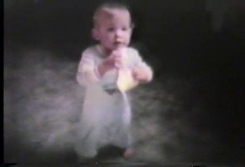 Video Archive Clip 1985 (10) - Yaden, Jacob B. - Jacob's 1st Birthday (October 19) [1992 Edit] - Queen Avenue Home - Yakima, WA - Danny (Age 7), Matthew (Age 4) - 8mm Series (2 min 13 sec)