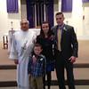 Jacob & Kristi Yaden - March 20, 2013 - Marriage validation ceremony - With Jacob, Jr. (age 5) and Deacon Ed Armijo - St. John the Evangelist Catholic Church - Loveland, CO