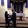 Jacob & Kristi Yaden - March 20, 2013 - Marriage validation ceremony - Jacob, Jr. (age 5) in middle holding rings - St. John the Evangelist Catholic Church - Loveland, CO