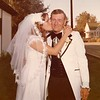 Julie (Schreiner) Yaden - August 31, 1974 - Age 20 - Wedding day photo with Mark (Bud) Schreiner (father) - Holy Redeemer Catholic Church - Yakima, WA