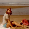 "Julie Yaden - 1974 (September) - Age 20 - Honeymoon Trip - Oregon Coast<br /> <br /> Julie's note on photo:  <br /> <br /> ""Bathing Beauty.  The new Mrs. Yaden."""