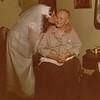 Julie (Schreiner) Yaden - August 31, 1974 - Age 20 - Wedding day photo with Grandpa Bud (Byron William Yaden) - Bud Yaden Duplex - Yakima, WA
