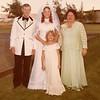 Julie (Schreiner) Yaden - August 31, 1974 - Age 20 - Wedding day photo with parents Mark (Bud) & Betty Schreiner and niece Stephanie Schreiner - Holy Redeemer Catholic Church - Yakima, WA