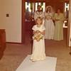 Julie (Schreiner) Yaden - August 31, 1974 - Age 20 - Wedding day photo with parents Mark (Bud) & Betty Schreiner, and with niece Stephanie Schreiner in front as flower girl - Holy Redeemer Catholic Church - Yakima, WA