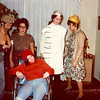 Julie Yaden (yellow hat) - October 31, 1975 - Age 21 - Halloween - Some staff from the Virgina Mason Medical Clinic go trick or treating at their Doctor's homes - Home of Dr. Robert Nielsen - Seattle, WA<br /> <br /> L to R:  Nancy Becker, Carolyn Sannar, Robin White (wheelchair), Gail Flitcraft, Julie Yaden