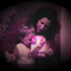 Julie Yaden - 1980 (April 20) - Age 26 - With Danny on his 2nd birthday - 7th Avenue Rental House - Yakima, WA (Captured from 8mm film)