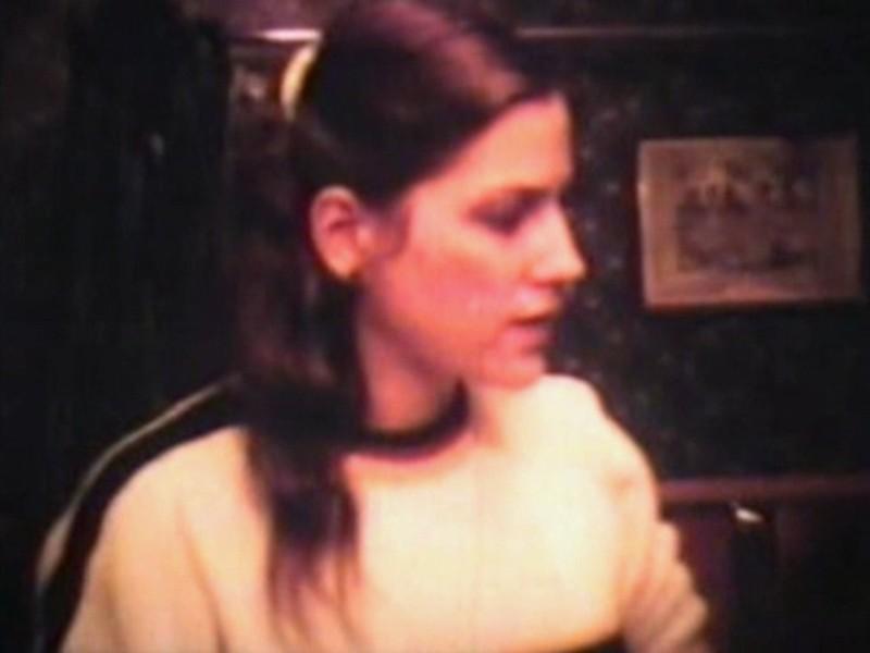 Julie Yaden - 1984 (Jan) - Age 29 - Queen Avenue home - Yakima, WA (Captured from 8mm film)
