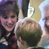 Julie Yaden - 1986 (Dec) - Age 32 - With Jacob (age 2) and Danny (age 8) during family visit with Grandmother Alma Irwin at the Good Samaritan Nursing Home - Yakima, WA (Captured from VHS Video Tape)