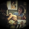 Julie Yaden - 1986 (Jan) - Age 31 - With Jacob (age 15 mos) for his first haircut by Dan's Selah High School classmate Patti (Jacketta) Miller at her Sir Cut Family Hair Care Center - Selah, WA (Captured from 8mm Film)