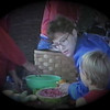 Julie Yaden - 1987 (May) - Age 33 - With Matthew (age 5) at Danny's Cub Scout Cookout at the Selah Park - Selah, WA (Captured from VHS Video)