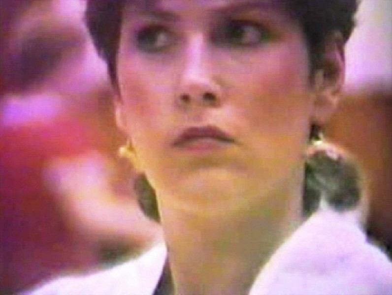 Julie Yaden - 1987 (Feb) - Age 32 - Clogging with the Toe-Tappin' Cloggers at the Moxee Grange Hall - Moxee, WA  (Captured from VHS Video Tape)