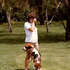 Julie Yaden - 1990 (May 28) - Age 36 - With Emma the Dog at the Beaton Lakes Estates home - Corsicana, TX