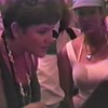 Julie Yaden (left) - 1993 (May) - Age 39 - At the USS Arizona Memorial while visiting with childhood friend Nalani Copeland in Hawaii - Honolulu, HI (Captured from VHS Video Tape)