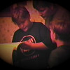 Julie Yaden - 1995 (Oct) - Age 41 - With Jacob (age 11) and Steven (age 7) at the Park Avenue West home - Mansfield, OH (Captured from VHS Video Tape)
