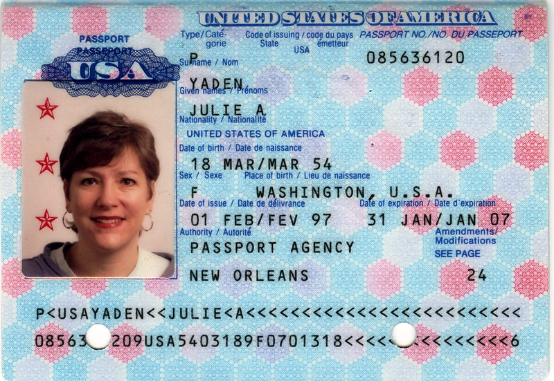 Julie Yaden - 1997 (Feb) - Age 42 - Passport photo - Mansfield, OH