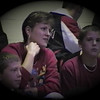 Julie Yaden - 1998 (Dec) - Age 44 - With sons Steven (left, age 10) and Jacob (age 14) at a Mansfield Sr. wrestling tournament - Mansfield, OH (Captured from VHS Video Tape)