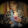 Julie Yaden - 2003 (Mar) - Age 49 - Julie with granddaughter Alyssa Yaden (age 5 mos, daughter of Dan, Jr. & Trish) - Storm Mountain home - Drake, CO