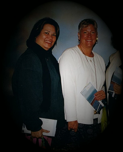 Julie Yaden (right) - 2006 (Oct) - Age 52 - Photo taken while on Caribbean cruise with childhood friend Nalani Copeland - Holland America Line