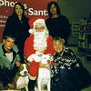 Julie Yaden (lower right) - 2007 (Dec) - Age 53 - With son Jake (left, age 23), daughter-in-law Kristi (upper left), daughter Alex (upper right, age 17), Missy the Pit Bull (left), and Max the Pit Bull (middle) - Loveland, CO