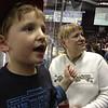 Julie Yaden - January 23, 2013 - Julie with grandson Jacob Yaden, Jr. (age 5) at a Colorado Eagles hockey game - Budweiser Events Center - Loveland, CO