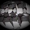 Julie Schreiner (middle) - 1970 (Fall) - Age 16 - Eisenhower High School Yearbook Photo - Eisenhower Cadet Drill Team - Yakima, WA