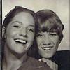 Julie Schreiner (left) with friend Sandy Macintosh - 1970 (Summer) - Age 16 - Bus station photo - Yakima, WA