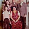 Julie Schreiner [back row left] - 1970 (Dec) - Age 16 - Schreiner family photo - Yakima, WA<br /> <br /> Back row middle:  Mike Schreiner (brother)<br /> Back row right:  Mark (Bud) Schreiner (father)<br /> Front row left:  Patrick Schreiner (brother)<br /> Sitting:  Betty Schreiner (mother)