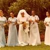 Julie Schreiner (far left) - 1972 (Dec) - Age 18 - Nalani Copeland Wedding - Hawaii (Oahu)
