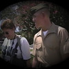 Matt Yaden - 1999 (Sep) - Age 18 - Matt and Mom (Julie, age 45) at Parris Island following his graduation from Marine Corps boot camp - Marine Corps Recruit Depot - Parris Island, SC  (Captured from VHS Video Tape)