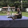 Video Archive Clip 1999 (June) - Yaden, Matthew J. - Age 17 - Mercury Matt Yaden & Osiris vs Vise & Seawolf in a tag team match at NRW Honeycreek - Honeycreek Valley Campground - Bellville, OH (8 min 14 sec)