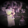 Matthew Joseph Yaden (center) - 1982 (April 9) - Age 9 mos - With Danny (age 3) and Mom (Julie) on Easter Sunday - Queen Avenue Home - Yakima, WA (Captured from 8mm film)
