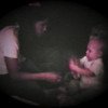 Matthew Yaden - 1982 (July) - Age 1 - At home with Mom (Julie) - Queen Avenue Home - Yakima, WA (Captured from 8mm film)