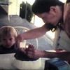 Matthew Yaden - 1983 (July 3) - Age 2 - At home with Mom (Julie) on his 2nd birthday - Queen Avenue Home - Yakima, WA (Captured from 8mm film)