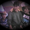 Matthew Yaden (right) - 1989 (Oct) - Age 8 - With Mom (Julie, age 35) and Jacob (age 5) at the Six Flags Over Texas Halloween Event - Dallas, TX (Captured from VHS Video Tape)