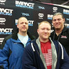Matt Yaden - 2013 (March 2) - Age 31 - With old Mansfield school friends Bill and Grant at a TNA event in Ohio