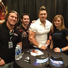 Matt Yaden - March 9, 2013 - Age 31 - Working TNA Fan Interaction in San Antonio. Pictured here with TNA wrestler Rob Terry (white shirt) and 2 fans who came from Denver. They come to the NRW shows in Denver. - San Antonio, TX