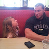 "May 14, 2013 - Jaycene Yaden (age 8) giving dad Matt Yaden (age 31) the well-deserved ""look."" - Nashville, TN"