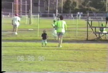 Video Archive 1990 (6) - Yaden, Matthew J. - Matthew (Age 8) Plays Little League Baseball - Corsicana, TX - Jacob (Age 5), Steven (Age 2) - Mixed Relations Series - Edited in June 1990 (7 min 54 sec)