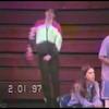 Video Archive Clip 1997 (Feb) - Yaden, Matthew J. - Age 15 - Matt (orange) wrestles for Mansfield Senior High School - River Valley Invitational Wrestling Tournament - Match 2 of 5 - Caledonia, OH - Original VHS Series (6 min 40 sec)