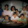 Steven Yaden (back right, on Dad's knee) - 1990 (Aug 31) - Age 2 - With Mom, Dad (Julie, Dan, age 36), and Alex's (age 4 mos) birth mother Kaye (2nd from left) and birth grandmother (far left) at Hope Cottage adoption agency - Jacob (front left, age 5), Matthew (age 9), and Danny (age 12) - Dallas, TX