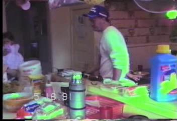 Video Archive Clip 1991 (5) - Yaden, Steven R. - Steven's 3rd Birthday (May 16) - Selah Farmhouse - Selah, WA - Danny (Age 13), Matthew (Age 9), Jacob (Age 6), Megan (Age 5), Drew (Age 18 mos), Alex (Age 13 mos) - Original VHS Series (9 min 18 sec)
