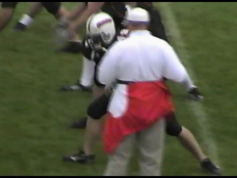 Video Archive Clip 2006 (Sept) - Yaden, Steven R. - Age 18 - Steve (#34 & 20, brown jersey) plays football for Midland Lutheran College (NAIA) - Freshman Year - Fremont, NE - Original VHS Series (7 min 42 sec)
