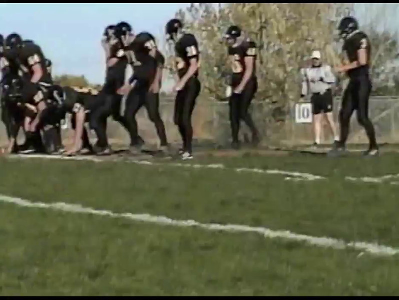"Video Archive Clip 2003 to 2009 - Yaden, Steven R. - Ages 15 to 21 - Life by the Yard:  Diary of a Fullback - PART 1 OF 2 - The recorded football carries of Steve Yaden (13 min 53 sec)<br /> <br /> 2003 to 2005 - Thompson Valley High School (Eagles) / Loveland, CO - Fullback<br /> 2006 - Midland Lutheran College (Warriors) / Fremont, NE - Fullback<br /> 2007 - Doane College (Tigers) / Crete, NE - Redshirt year<br /> 2008 & 2009 - Doane College (Tigers) / Crete, NE - Tight End<br /> <br /> Note from Dad:<br /> <br /> Steve averaged just over 5 yards per carry as a fullback for Thompson Valley High School.  He had a passion for the 1st down, and appreciated every inch of turf between the yard markers.  Steve took greatest pride in being the go-to guy when it was ""3rd down and a few to go"" with the game on the line.  In 2005 the Thompson Valley Eagles won their first Northern Conference Title in 16 years, and advanced through two playoff rounds to the Colorado State 4A Semifinals.<br /> <br /> In college Steve's primary role was as a blocking tight end in the ""smash-mouth"" run-oriented configurations of  the Doane College offense."