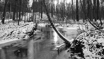 Water Crossing, Hinckley Reservation, Christmas Eve Trail Run, 2009.