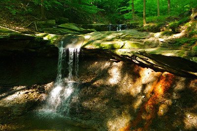 Blue Hen Falls, CVNP, Buckeye Trail Run, May 2012.