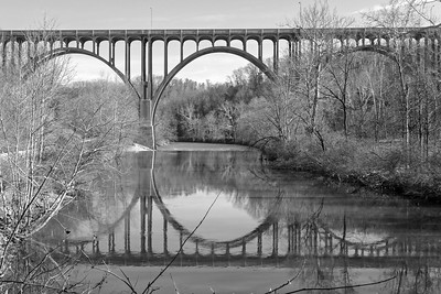 Ohio Rt. 82 Bridge, CVNP, Towpath Trail Run, April 2015.