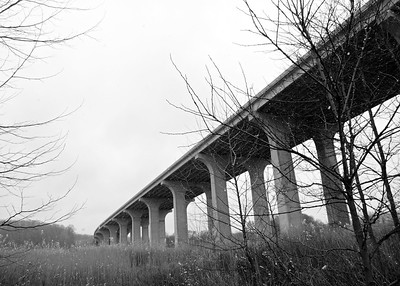 Interstate 80 Bridge, CVNP, Spring Solstice Run, 2016.