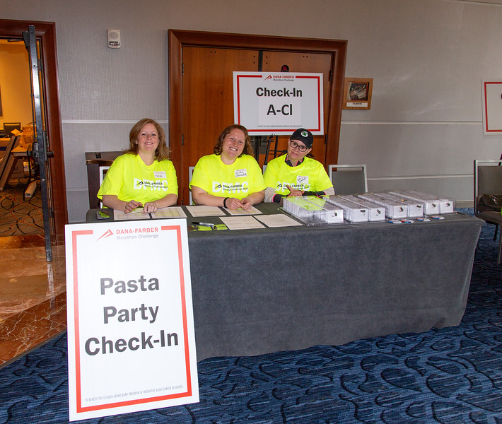 2018 Dana-Farber Marathon Challenge Pasta Party on April 15th.